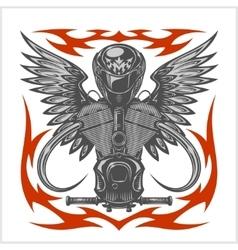 Vintage motorcycle emblem label badge logo and vector