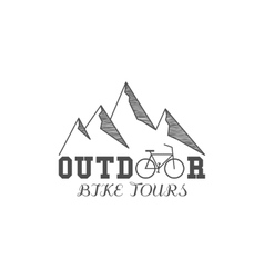 Vintage outdoor bike tours badge outdoors logo vector