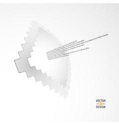 White Zigzag Frame vector image