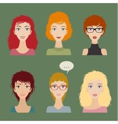 Women avatar set vector