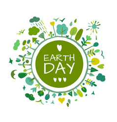 world environment day background save earth vector image