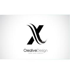X letter design brush paint stroke vector