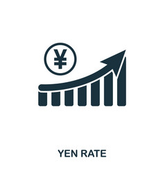 Yen rate increase graphic icon mobile apps vector