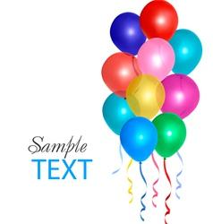 balloons frame composition vector image vector image