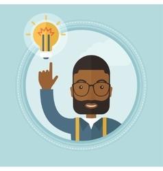 Businessman having business idea vector image vector image