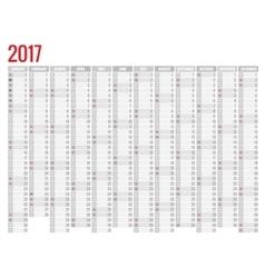 calendar simple flat design 2017 vector image vector image