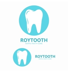 Dental clinic logo Tooth icon vector image