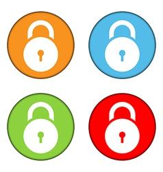 Lock symbol buttons set vector