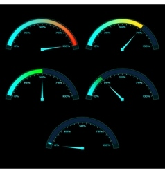 Power or speed meter dashboard gauge vector