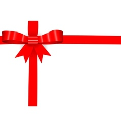 red bow on a card vector image