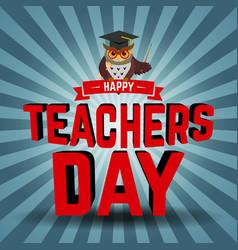 teachers day vector image