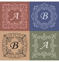 trendy mono line style - monogram design element vector image