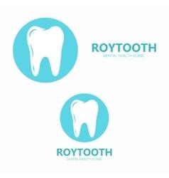 Dental tooth logo design vector image
