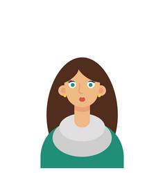 flat girl student vector image