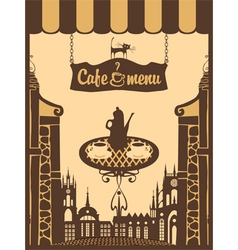 menu for city cafe vector image vector image