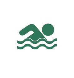 Swimming water sport icon vector image