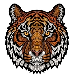 Tiger head isolated vector image