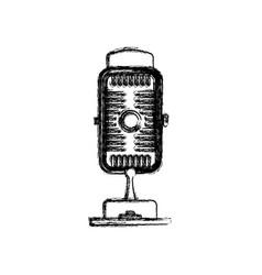 vintage radio microphone vector image vector image