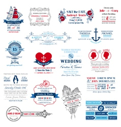 Wedding Invitation Collection vector image vector image
