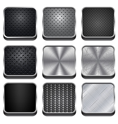 Metal App Icons vector image