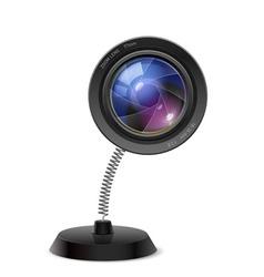 Photo camers lens souvenir vector image vector image