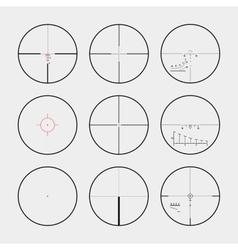 Real gun sights vector image
