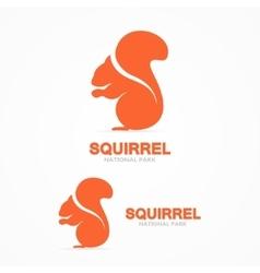 Set of squirrel logo vector image vector image