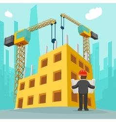 Building construction cartoon vector image
