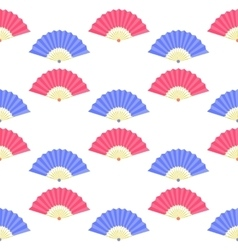 Red Blue Fan Seamless Pattern vector image vector image