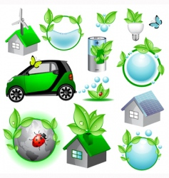 vector eco icons and concepts vector image vector image