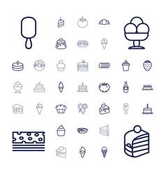 37 dessert icons vector