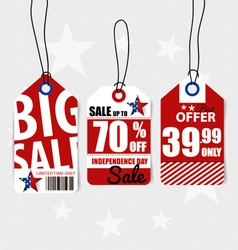 4 th july happy independence day sale coupon vector