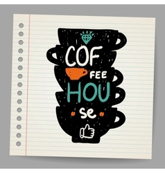 A cup of coffee doodle vector