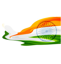 Abstract indian flag banner design vector