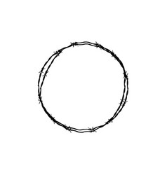 Barbed wire circle vector
