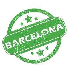 Barcelona green stamp vector