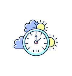 Barometer rgb color icon vector