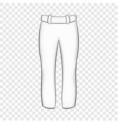 baseball player pants icon cartoon style vector image