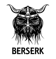 berserk or berserker warrior head icon vector image