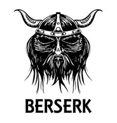Berserk or berserker warrior head icon vector