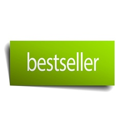 Bestseller green paper sign on white background vector