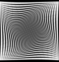 Black and white abstract grid grating pattern vector