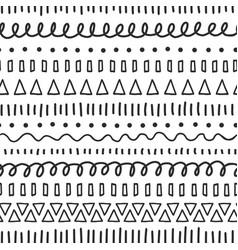 black doodles seamless pattern ethnic vector image