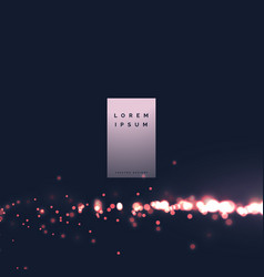 Bokeh city light effect particle background vector
