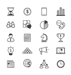 Business and Finance Strategy Icons Line vector image