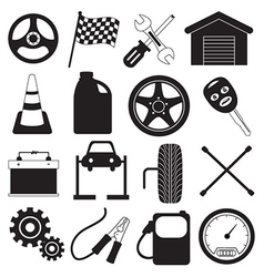Car Service and Tool Icons vector