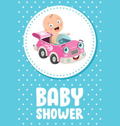 card for bashower event vector image
