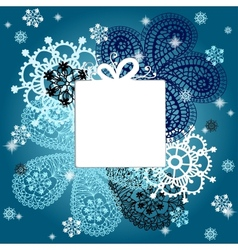 Christmas and New Year card with snowflakes vector image