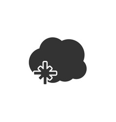Cloud weather icon with snow vector