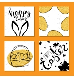 Colorful collection of printable card for Easter vector